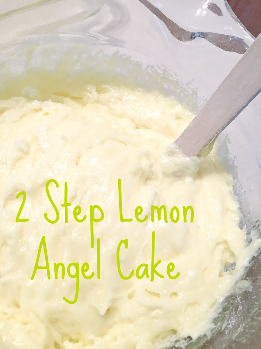 Two Step Lemon Angel Cake