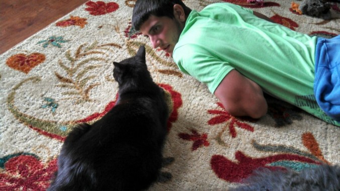 Austin and black kitty