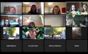 screen shot of zoom call with faces of 10 participants