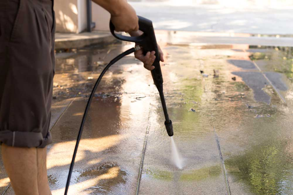 How To Clean Concrete With Electric Power Pressure
