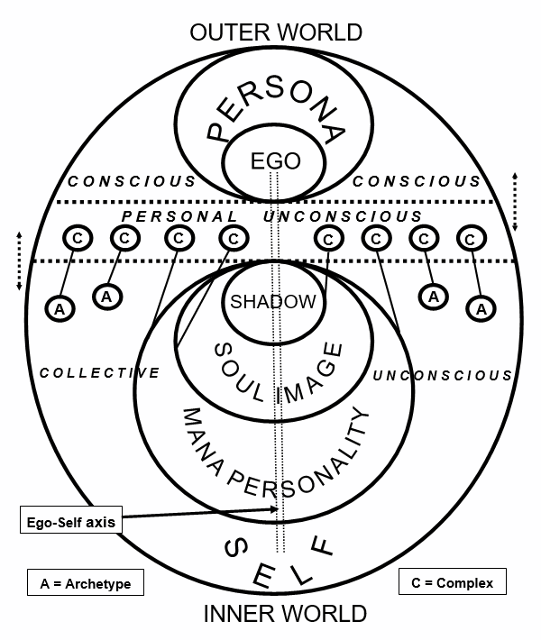 Jung's Model of the Psyche and Psychological Dynamics