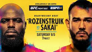 Watch UFC Fight Night Rozenstruik vs. Sakai 6/5/21