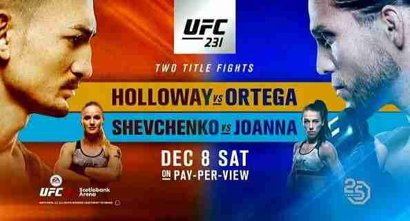 Watch UFC 231 12/8/18 – 8th December 2018