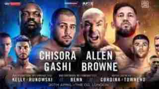 Watch Lucas Browne vs. David Allen live
