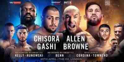 Watch Lucas Browne vs. David Allen live