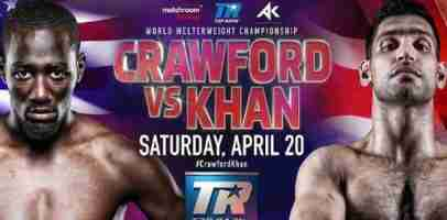 Watch TERENCE CRAWFORD vs AMIR KHAN 4/20/19