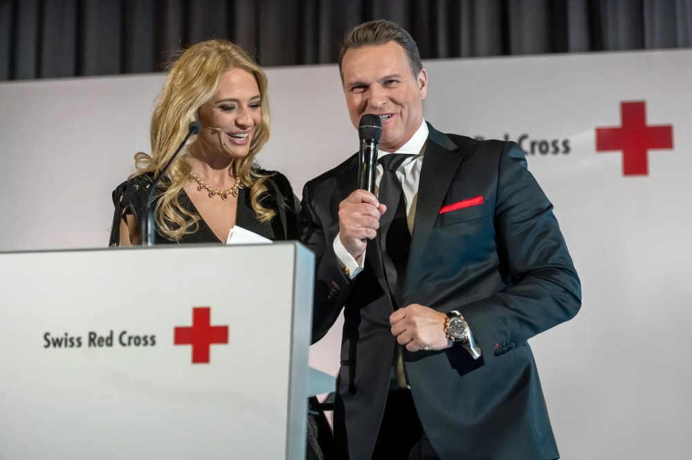 For The Good Cause Sascha Moeri With Host Christa Rigozzi At The Red Cross Gala