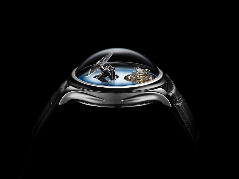 Endeavour Cylindrical Tourbillon H. Moser X MBF 1810 1205 PR 02 Black Background 1024x768