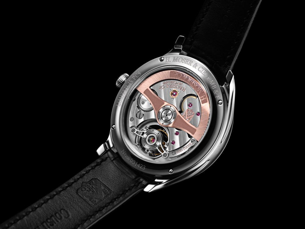 Endeavour Cylindrical Tourbillon H. Moser X MBF Back Black Background 1024x768