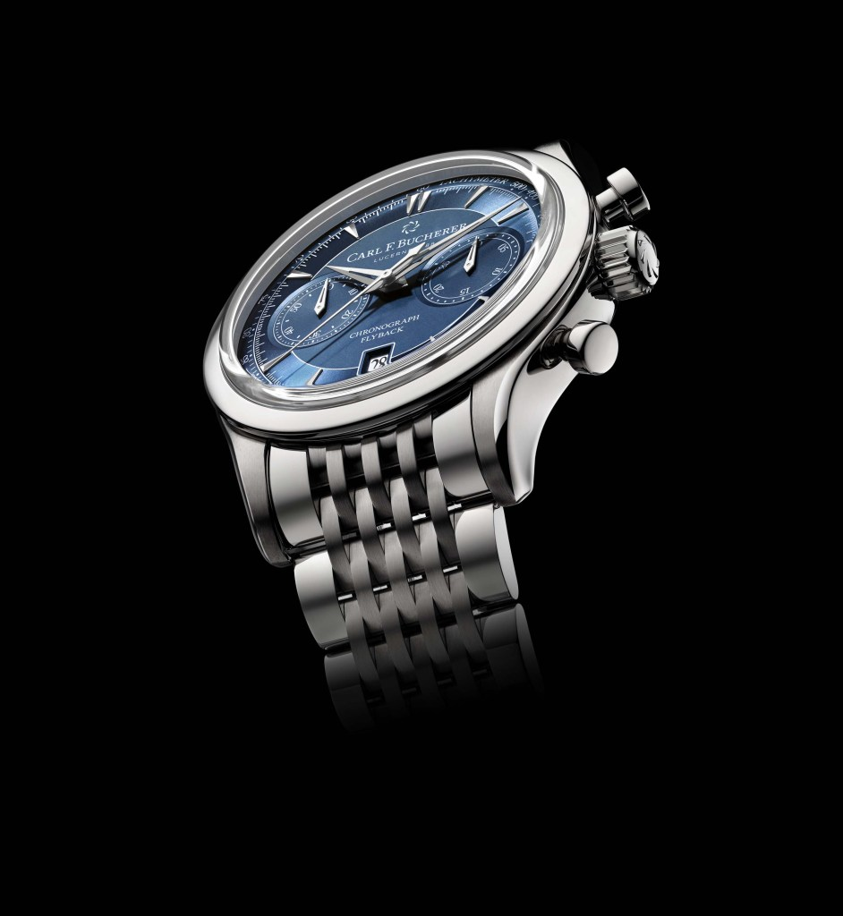 Manero Flyback With Blue Dial And Metal Bracelet 00 10919 08 53 21 PR 02 942x1024