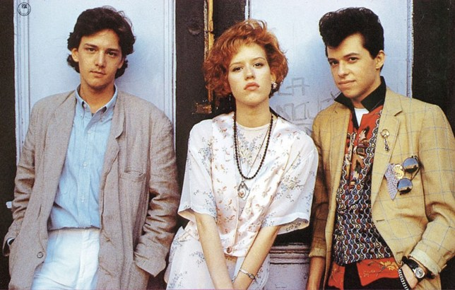 Andrew McCarthy, Molly Ringwald and Jon Cryer in Pretty In Pink (Picture: Paramount)