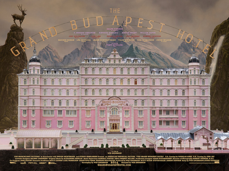 Official Grand Budapest Hotel movie poster. Photograph by 20th Century Fox.