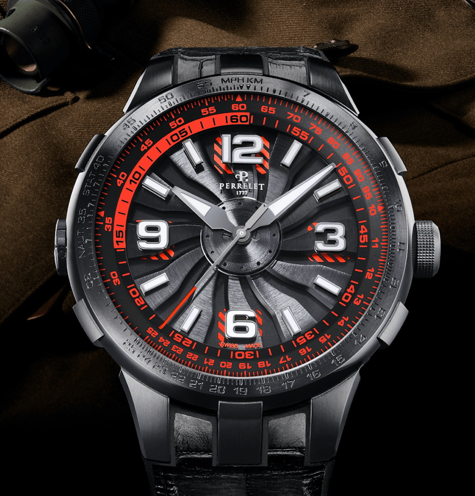 Perrelet watch red new Perrelet Turbine Pilot