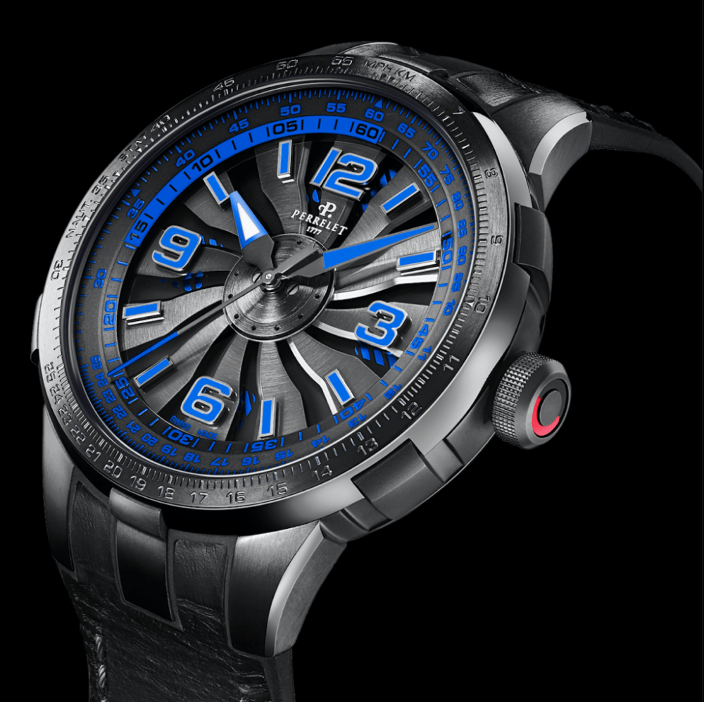 Perrelet watch blue new Perrelet Turbine Pilot