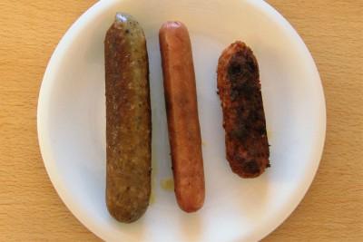 van links naar rechts: Vegetarische Slager, Tivall en Vivere
