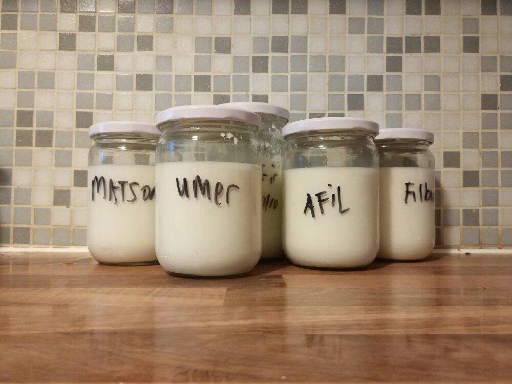 Zo veel zure melk op mijn aanrecht