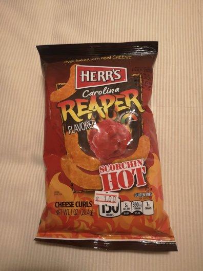 Carolina reaper chips geproefd