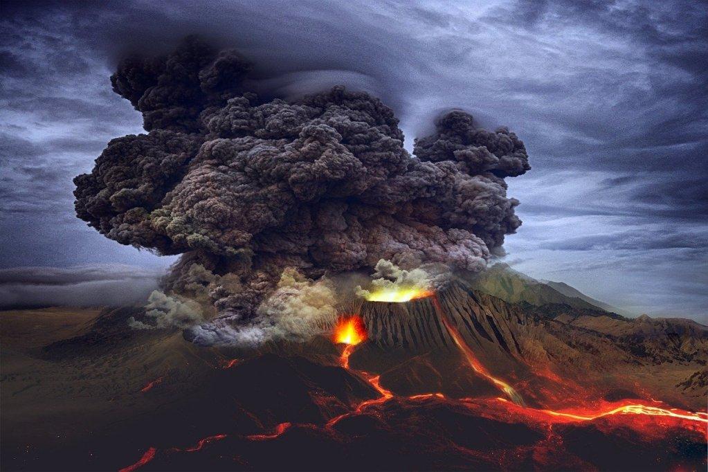 Wetenschappers grillen hotdogs op vulkaan