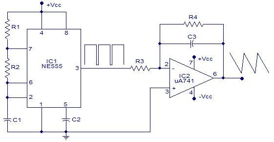 Square Wave Generator Using Op-Amp