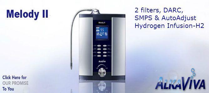 Melody II H2 water ionizer purifier AlkaViva