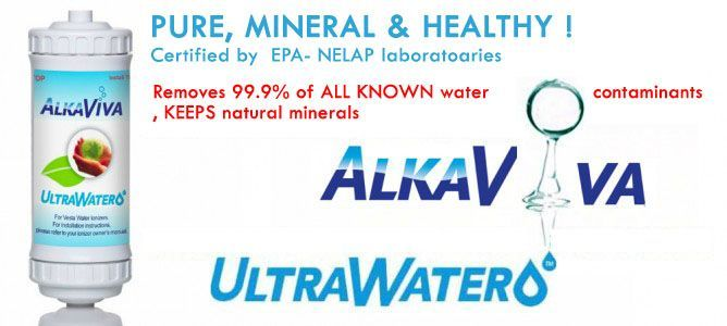 ultrawater ionized alkaline water filter-tested & certified US EPA