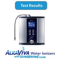 AlkaViva Vesta H2 water ionizer with UltraWater filters-Test-Results-Button