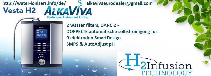 AlkaViva Vesta H2 Wasserstoffinfusion Wasser-Ionisator Reiniger (2 wasser filters)
