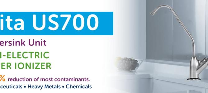 filtre-ioniseur d'eau non électrique sous le lavabo AlkaViva Elita US 700 -eau propre, minéral, alcalin, antioxydant, eau avec hydrogène
