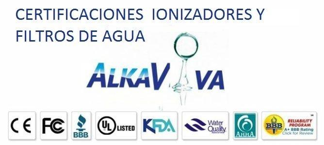 CERTIFICACIONES IONIZADORES Y FILTROS DE AGUA ALKAVIVA(IonWays)/EmcoTech(Jupiter) y BionTech