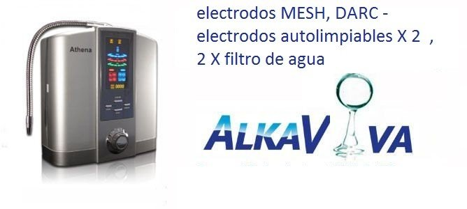 purificador ionizador del agua JupiterScience Athena JS 205 2 filtros de agua, DARC electrodos autolimpiables X 2 , MESH electrodos
