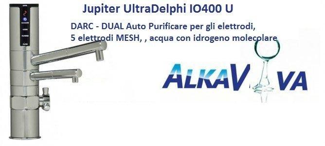 filtro-ionizzatore d'acqua sotto il lavello ULTRA-DELPHI IO400U - DARC - DUAL Auto Reverse Cleanse/purificare per gli elettrodi,5 elettrodi MESH, , acqua con idrogeno molecolare
