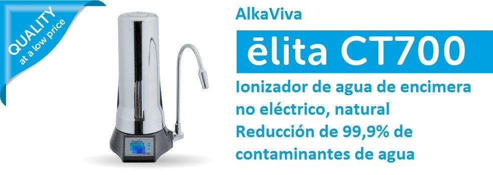 Ionizador de agua alcalina natural no electrico de encimera ELITA CT 700