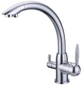 faucet-countertop for use with undersink external water filter