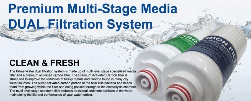 Doble filtro de agua bruta