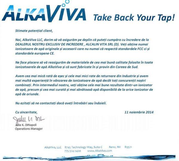 Dealer AlkaViva Oficial de Incredere