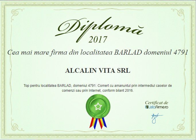 cea mai mare firma Barlad Alcalin Vita SRL 2017