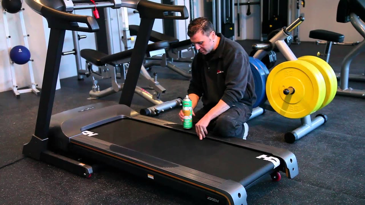 how to lube a treadmill?