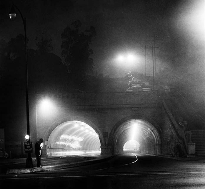 Hill St. Tunnels, Los Angeles 1954