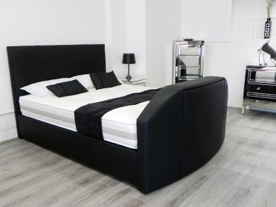 Enfield TV Waterbed in Black Fabric