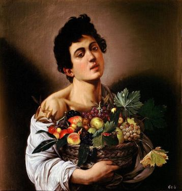 Boy with a Basket of Fruit by Caravaggio