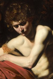 Detail of St John the Baptist in the Wilderness by Caravaggio