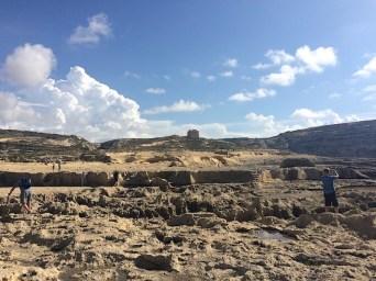 The rocky landscape of Dwejra