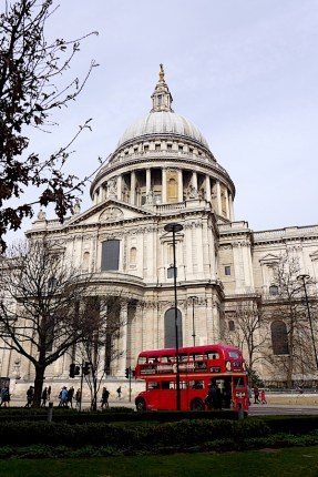 St Paul's with Routemaster
