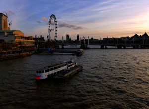 Thames sunset London Eye P1030986