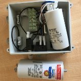Water bore start box and capacitor