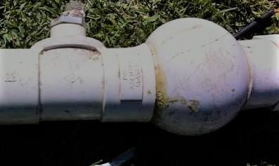 Bore pipe swollen needs fixing