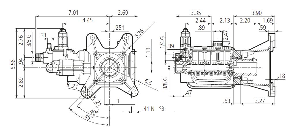 Pump-Annovi-Reverberi-RSV-4GPM-4000PSI-Hollow-Shaft