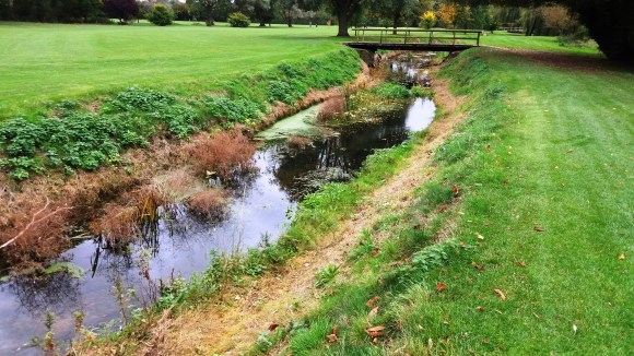 The river at Ramsey Golf club
