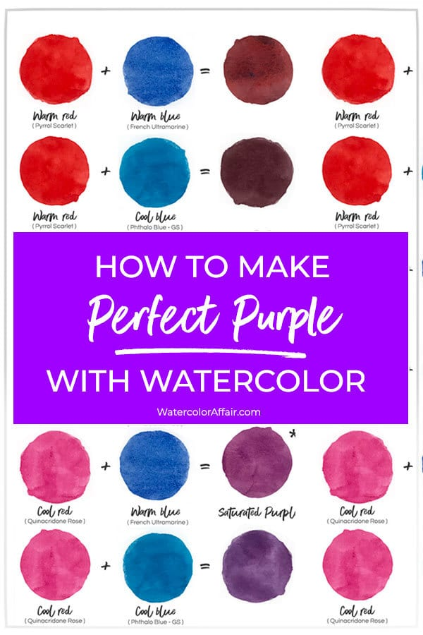 What Does Red And Blue Make : Perfect, Purple, Watercolor