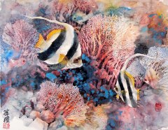 butterfly-fish-Chinese-painting